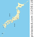 Map of Japan 11436118
