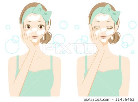 Face care facial wash woman 11436462