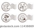 郵票 四月 3月 11436669