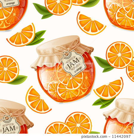 Stock Illustration: Orange jam seamless pattern