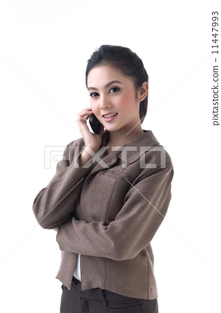 business woman is on the phone 11447993