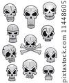 skull, background, white 11448605