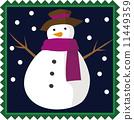 눈사람 크리스마스 11449359