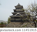matsumoto castle, natural scenery, landmark 11451915