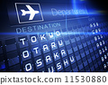 Blue departures board for major asian cities 11530880