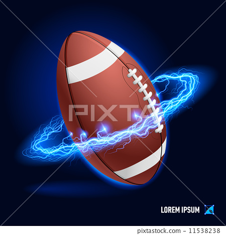 Stock Illustration: American football high voltage