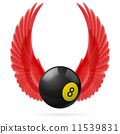 wings, ball, red 11539831