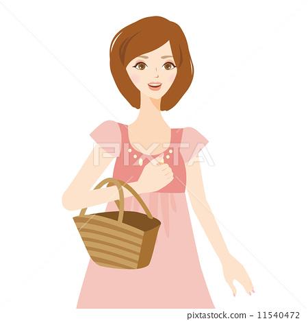 쇼핑하는 여성 11540472
