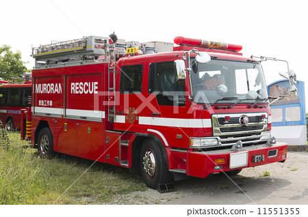 Stock Photo: firetruck, fire-engine, hook-and-ladder truck