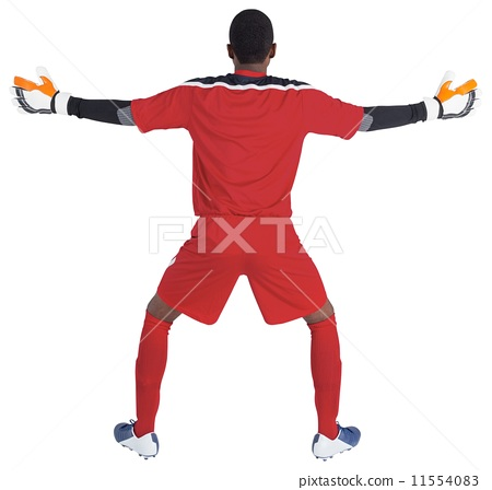 Goalkeeper in red ready to save 11554083