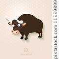 bison, zodiac, vector 11559899
