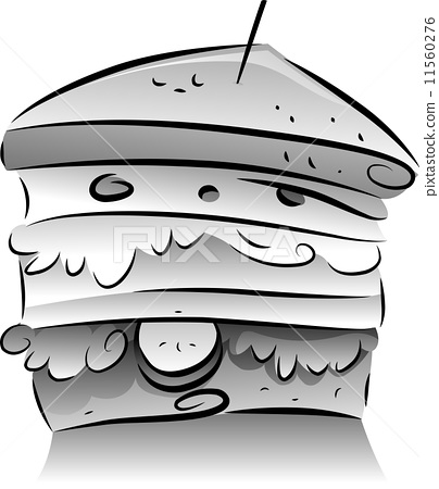 black and white sandwich stock illustration 11560276 pixta pixta