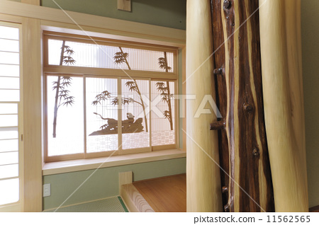 照片素材(圖片): 壁龕郵報 日式建築 光