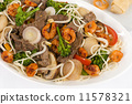 Chow Mein - Chinese noodles with beef, shrimp & vegetables  11578321