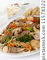 Chow Mein - Chinese noodles with beef, shrimp & vegetables  11578322