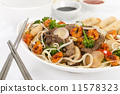 Chow Mein - Chinese noodles with beef, shrimp & vegetables  11578323