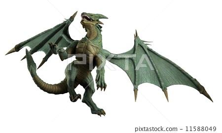 Large Green Dragon - turning 11588049