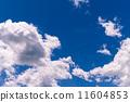 ท้องฟ้าสีฟ้าในฤดูร้อน 11604853