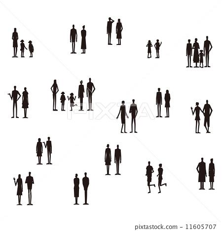 人們剪影家庭 11605707