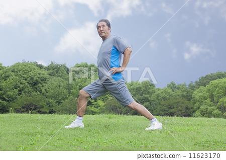 Senior men who do gymnastics 11623170