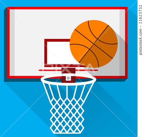 Flat vector illustration of play basketball 11623732