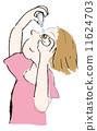 代表眼药水的妇女 11624703