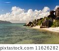 Beautiful tropical beach at Seychelles Islands 11626282