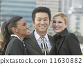 Multi-ethnic businesspeople outdoors 11630882