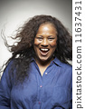 African American woman laughing 11637431