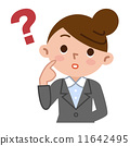 contemplation, think, female 11642495