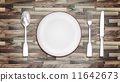 fork, knife, plate 11642673