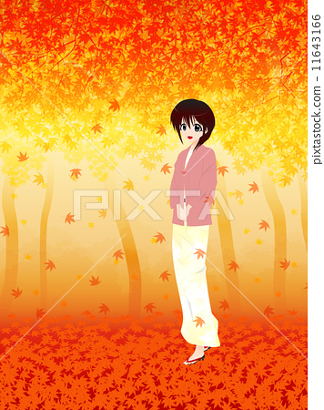 Autumn leaves and girls 11643166