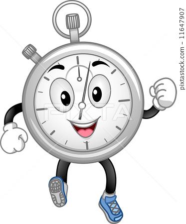 Analog Stopwatch Mascot 11647907