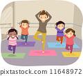 yoga, drawing, kids 11648972
