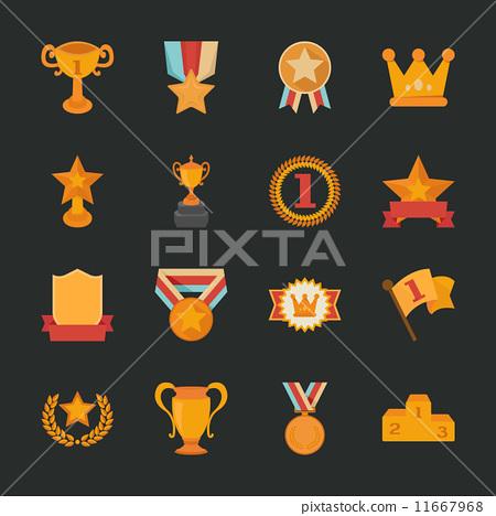 Prizes & Awards icons , flat design 11667968