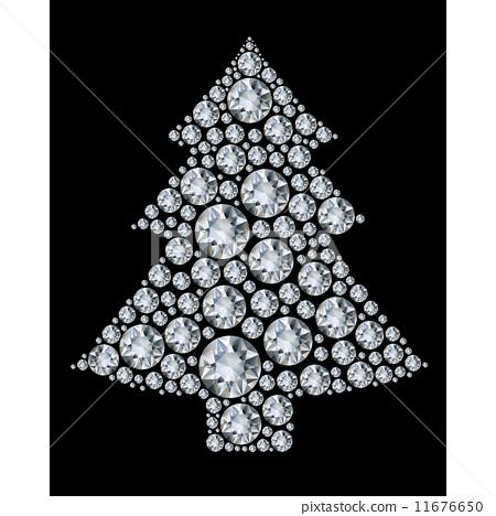 Christmas tree made from diamonds. 11676650