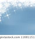 Blue christmas background 11681151