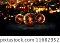 Three Orb Orange 3D Bokeh City Background Loop Animation 11682952