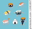 vector, sashimi, sushi 11683897