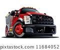 cartoon, vector, truck 11684052