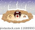 冬季温泉 11689993