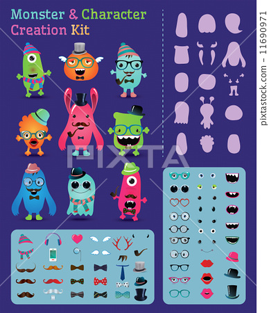 Hipster Monster and Character Creation Kit 11690971