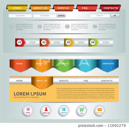 web site template navigation element navigation menu bar stock
