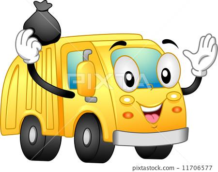 Garbage Truck Mascot 11706577