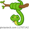 蛇 卡通 插图 11707142