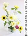 Arrangement of lotus, Turkish chinese and sunflowers 11708515