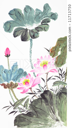 abstract lotus-Traditional Chinese Painting 11713750
