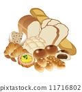 麵包房 矢量 麵包 11716802