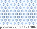 模様 雪の結晶 ブルーカラー 11717082