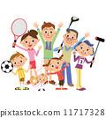 父母和小孩 媽媽 爸爸 11717328